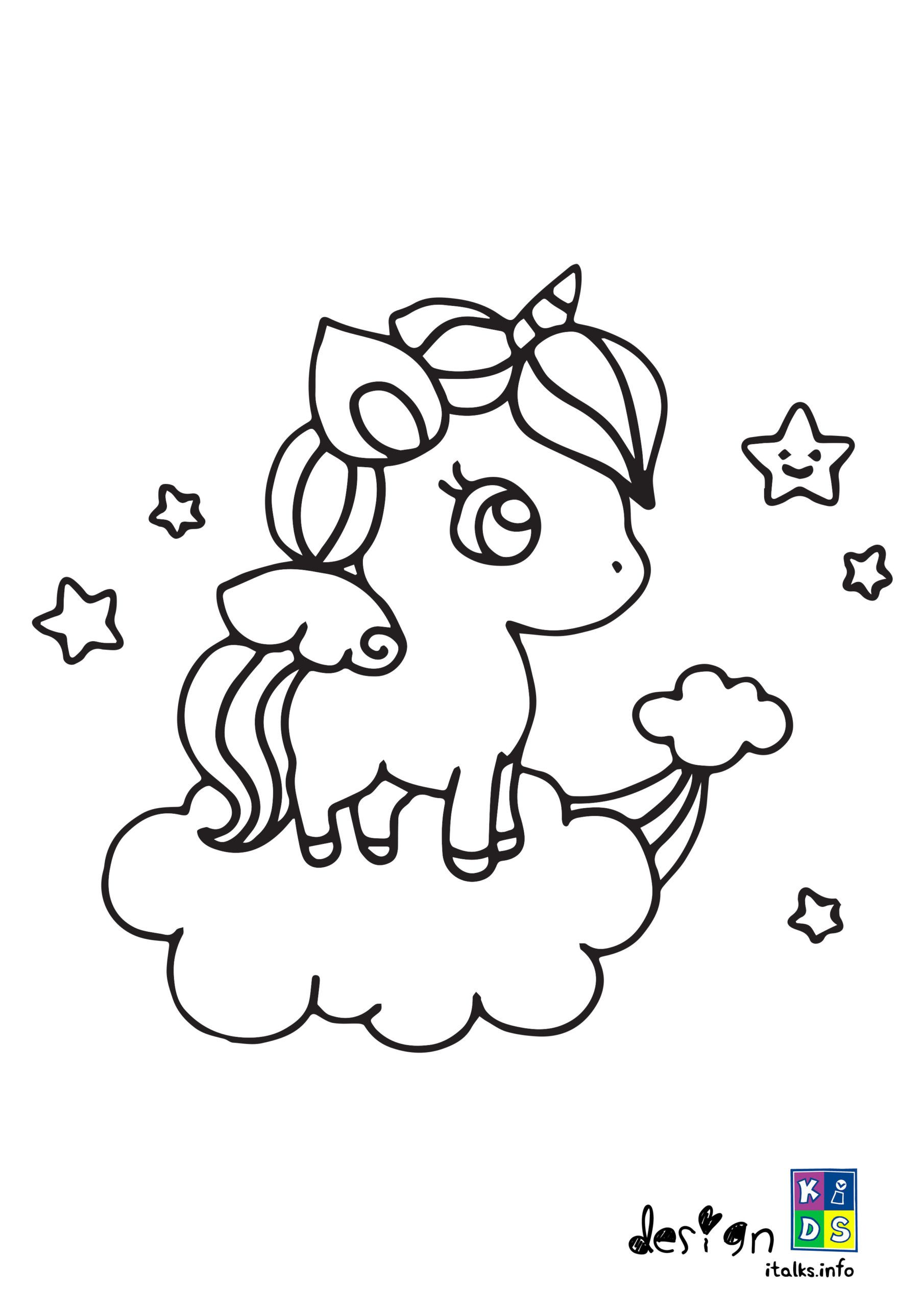 Unicorn Kawaii Coloring Pages : unicorn, kawaii, coloring, pages, Kawaii, Unicorn, Coloring, Designkids, Pages,, Unicorn,, Pages