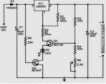 Amazing Lm350 12 Volt Battery Charger Electronic Projects Of Interest Wiring 101 Akebretraxxcnl