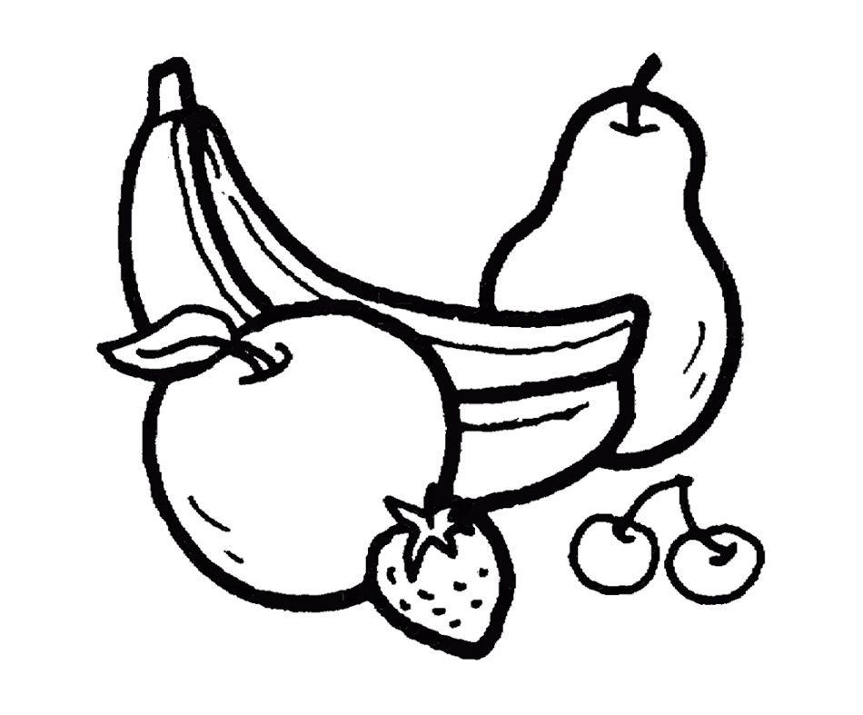Bananas And Other Fruits Coloring Page For Kids Fruit