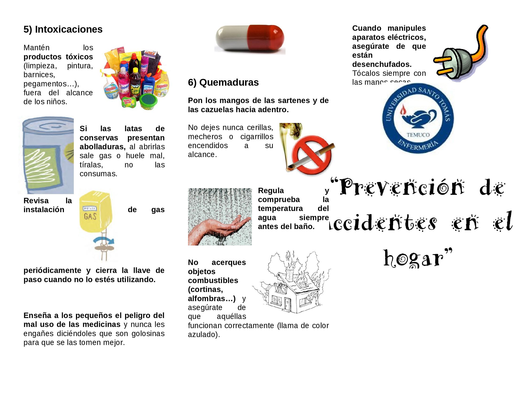 Triptico Prevencion De Accidentes En El Hogar Documents