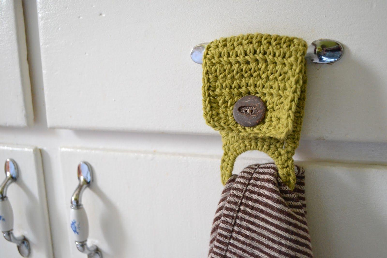 Colgador de trapos de cocina ganchillo DIY facil util crochet+holder ...