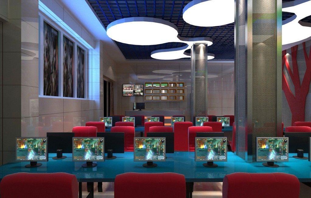 Internet cafes lighting design rendering  bus stab  Pinterest