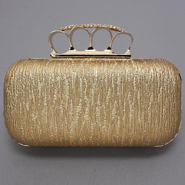 Rock Star 4 finger ring Clutch, Crystal Clutch Purse Evening Bag. $59.95, via Etsy.