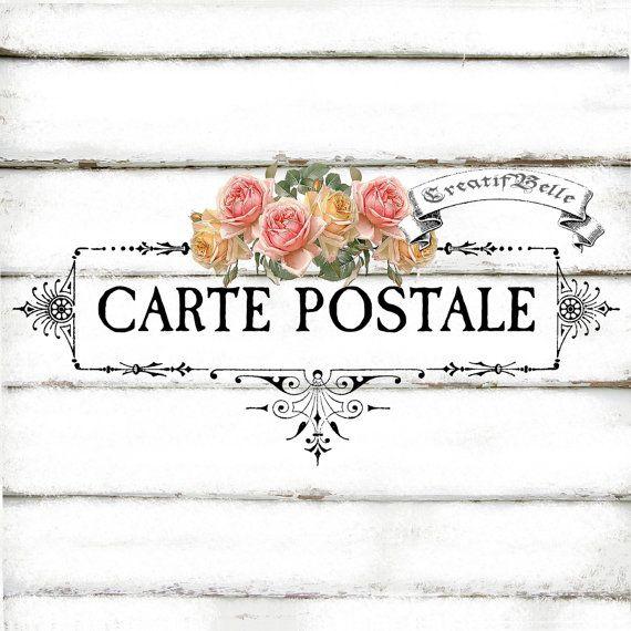 this is a digital download carte postale digital download in 300dpi high resolution jpg and png. Black Bedroom Furniture Sets. Home Design Ideas