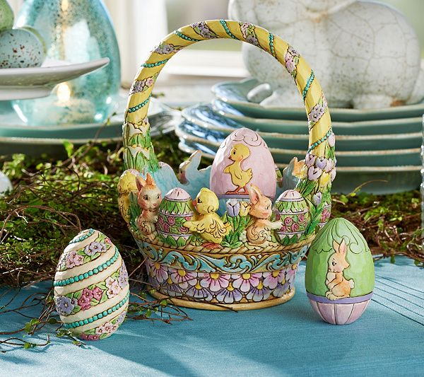 Jim shore 12th annual easter basket easter baskets easter and bunny jim shore 12th annual easter basket qvc negle Image collections