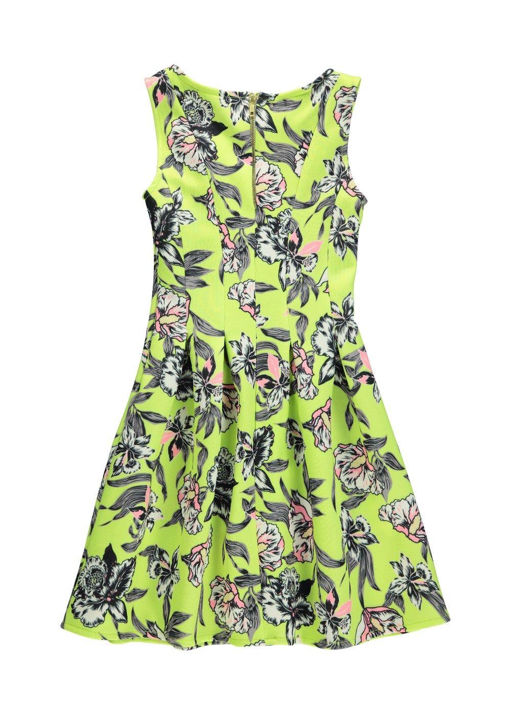 Girls Candy Couture Floral Neon Scuba Dress (8-16yrs) - Matalan | D ...
