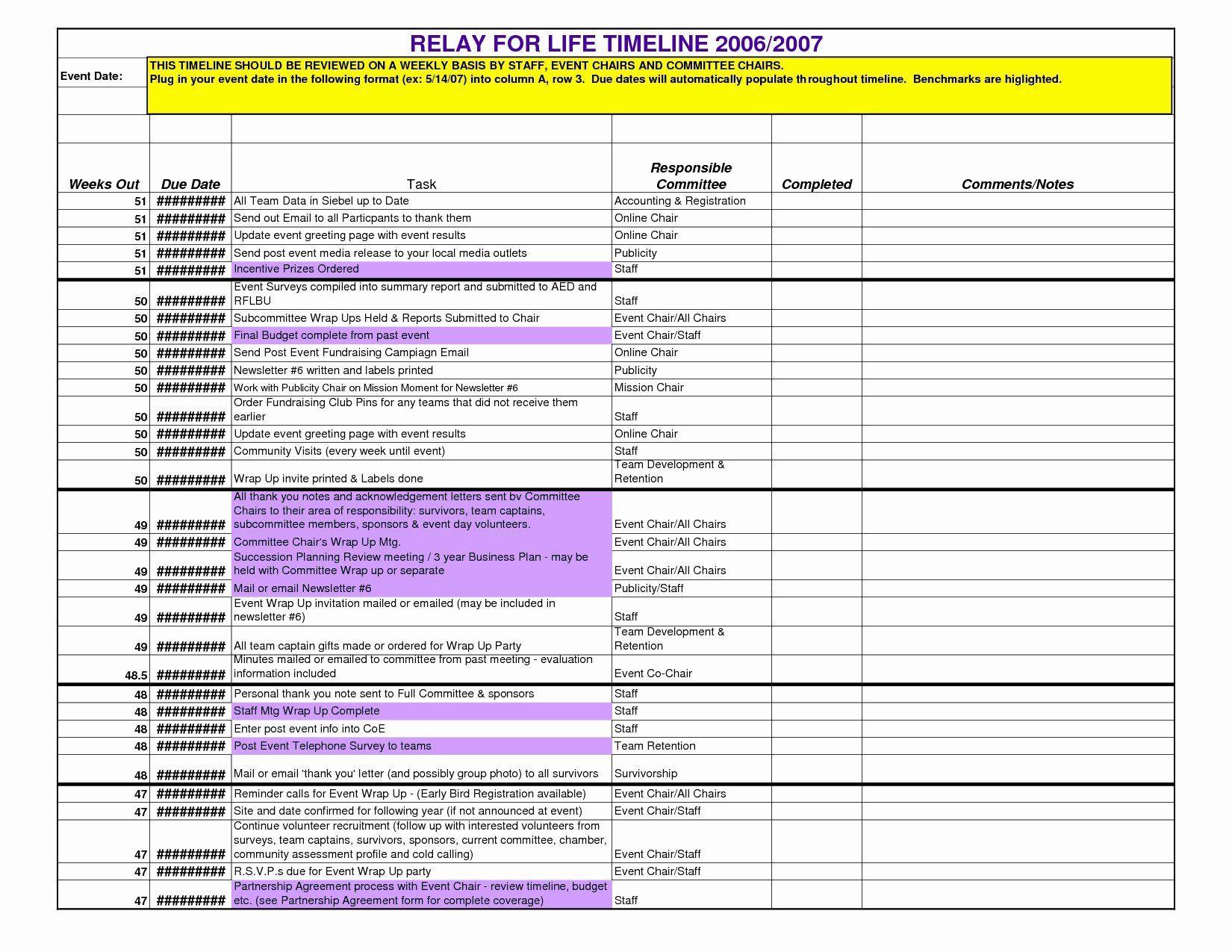 Event Planning Timeline Template Unique Timeline Spreadsheet Template Excel Spreadsheet In 2021 Event Planning Timeline Event Planning Proposal Event Planning Template