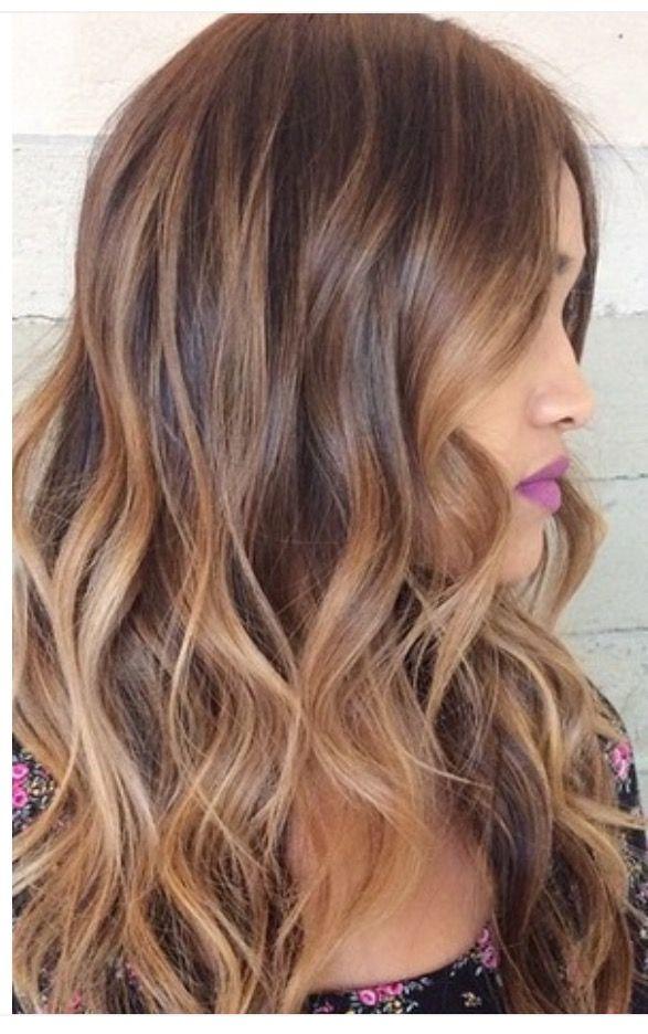 Caramel bayalage on light brown base | Hair | Hair color ...