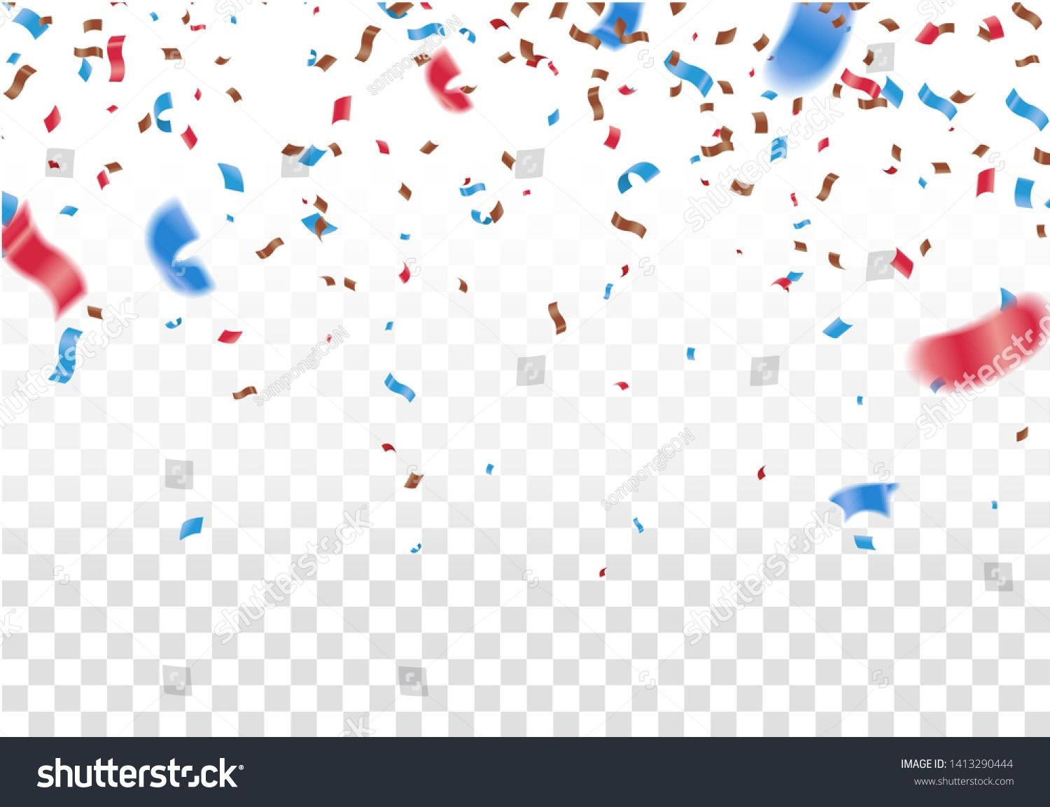 Celebrate Banner Party Flags With Confetti Vector Illustration Design Template Happy Holiday Of Confetti Background Wallpapers Party Flags Glitter Overlays
