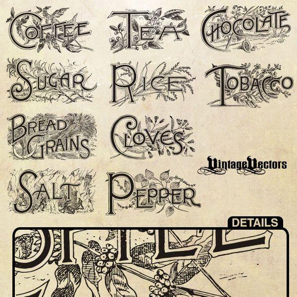Vintage Food Labels On Pinterest