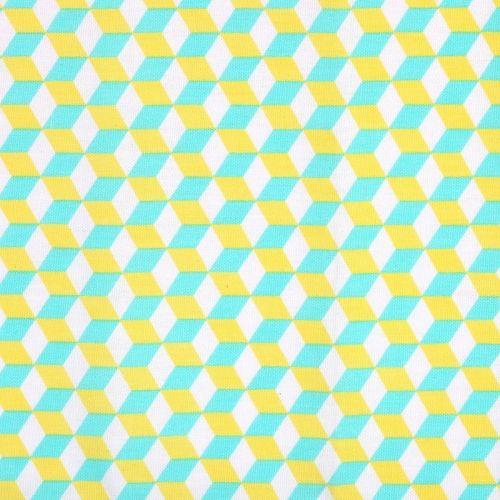 Coupon tissu 50x70 cm - cubes 3D - Geometric Pastel