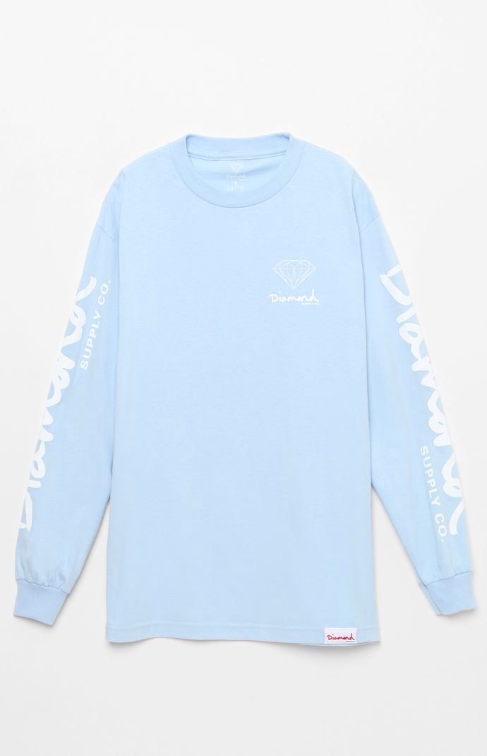 41ed0a65 Hooked on OG Script Blue Long Sleeve T-Shirt that I found on the PacSun App