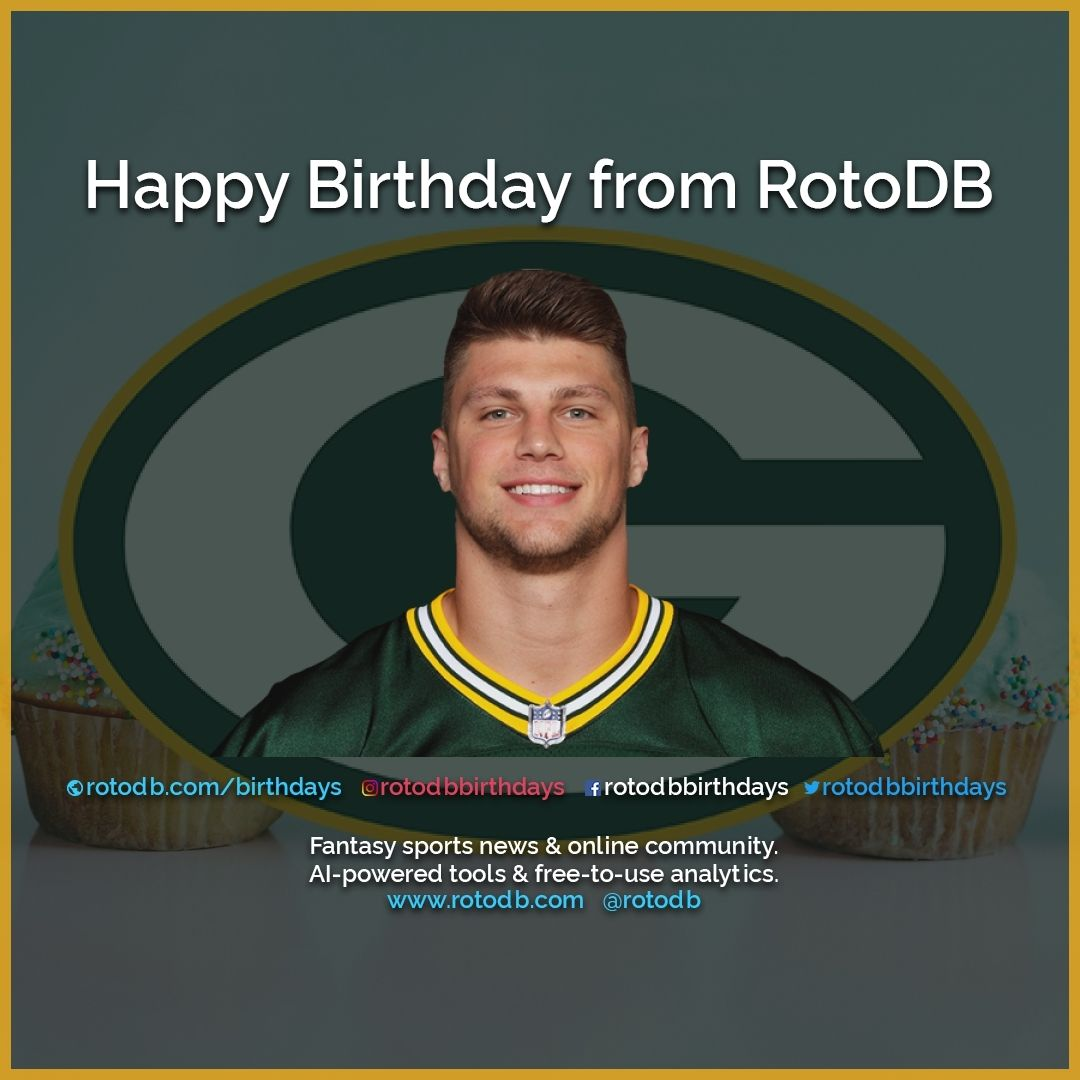 Happy 25th Birthday Robert Tonyan Green Bay Packers From Rotodb Happybirthday Hbd Birthday Cakeday S Sports Birthday Happy 25th Birthday Fantasy Sports