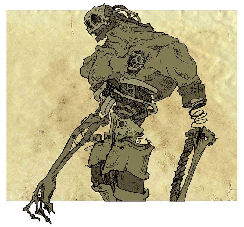 Commission: Cyborg Zombie by *AbigailLarson on deviantART