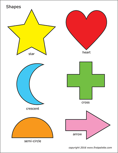 Basic Shapes Free Printable Templates Coloring Pages Firstpalette Com Shapes Preschool Printables Printable Shapes Shape Activities Preschool