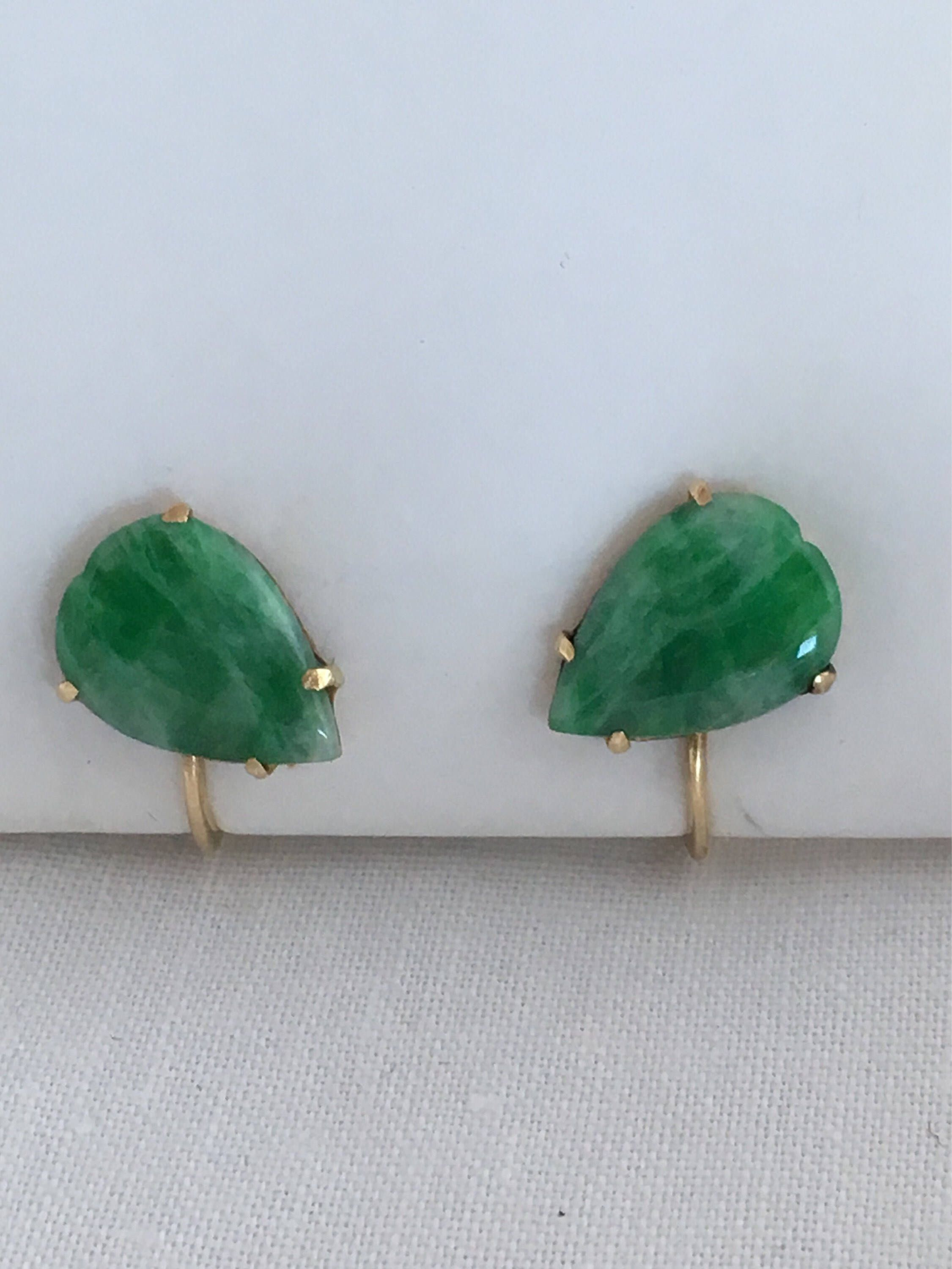 89dd02ccc Excited to share the latest addition to my #etsy shop: 14K Gold Jadeite  translucent Apple Green #jadegemstone