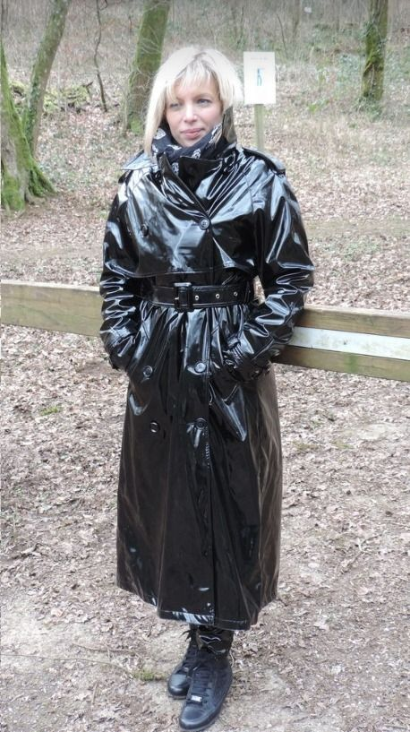 Pin by Travis Clark on Raincoats | Black raincoat, Pvc