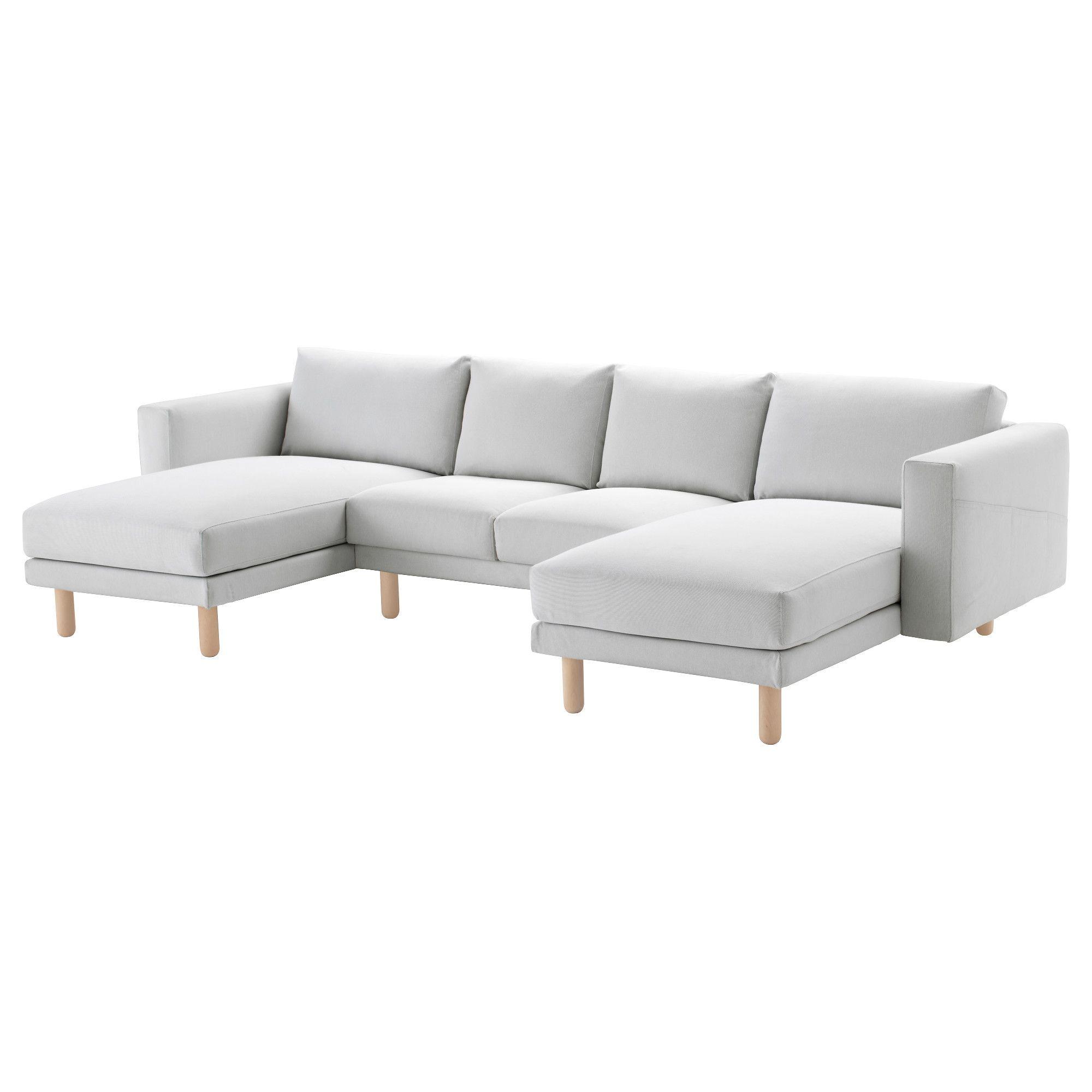 NORSBORG, 2er-Sofa mit 2 Récamieren, Finnsta weiß, weiß Jetzt ...