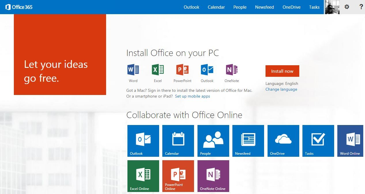 Office 365 Microsoft Office Outlook Onenote Office 365
