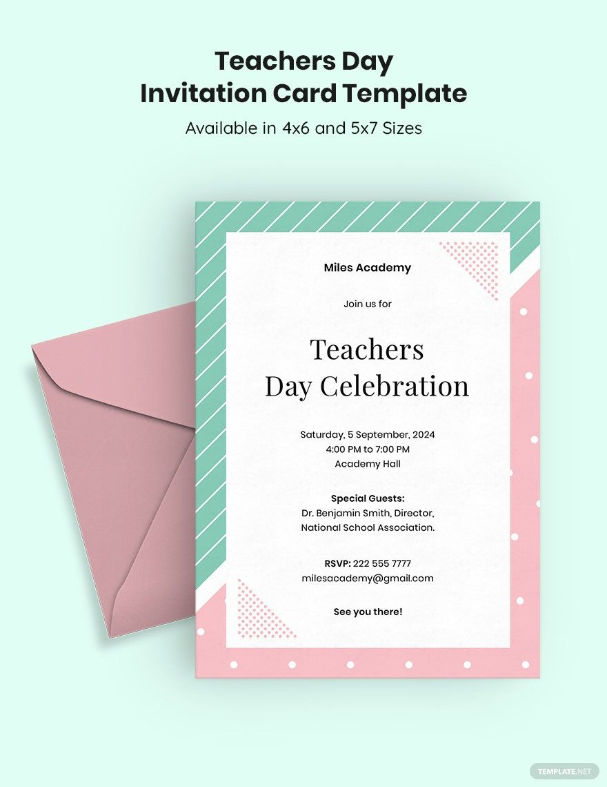 Teachers Day Invitation Card Template Google Docs Illustrator Word Apple Pages Psd Publisher Template Net Teachers Day Invitation Cards Teachers Day Celebration