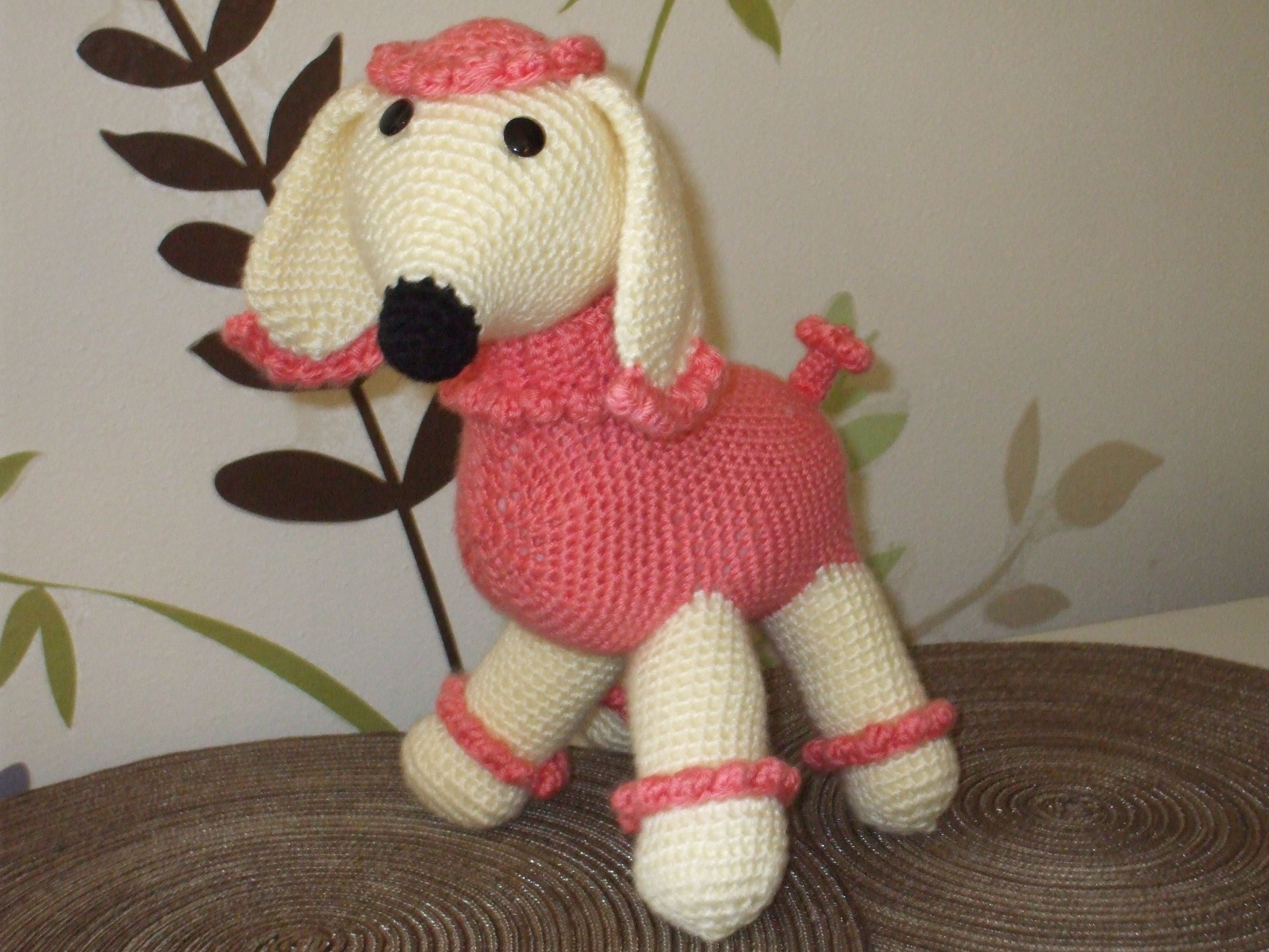Penelope, the pink poodle. She was so much fun to make.
