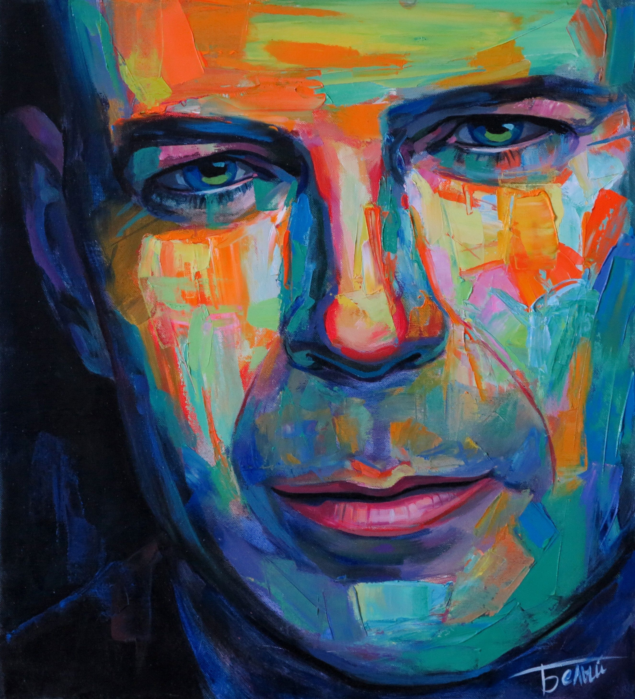 Bruce willis portrait painting art brucewillis for Painting for sale by artist