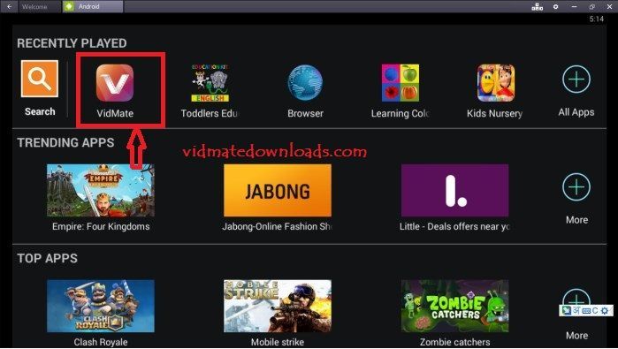 Download Vidmate For PC & Laptop Free (Windows 10/8.1/8/7