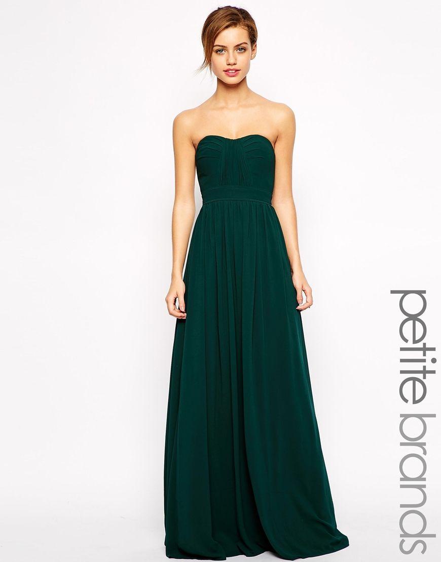 Green dress for wedding  JarloPetiteBandeauMaxiDress  Dresses  Pinterest  Maxi dresses