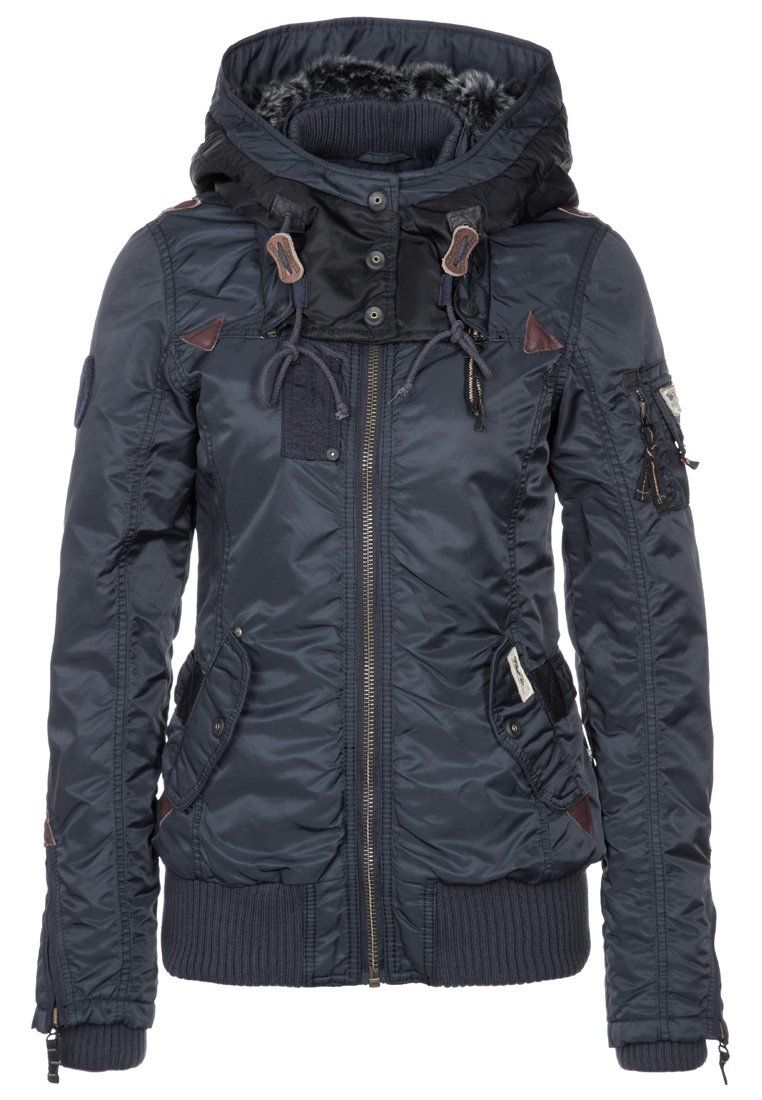 khujo - Winter jacket - blue. I could get excited for some cold weather if