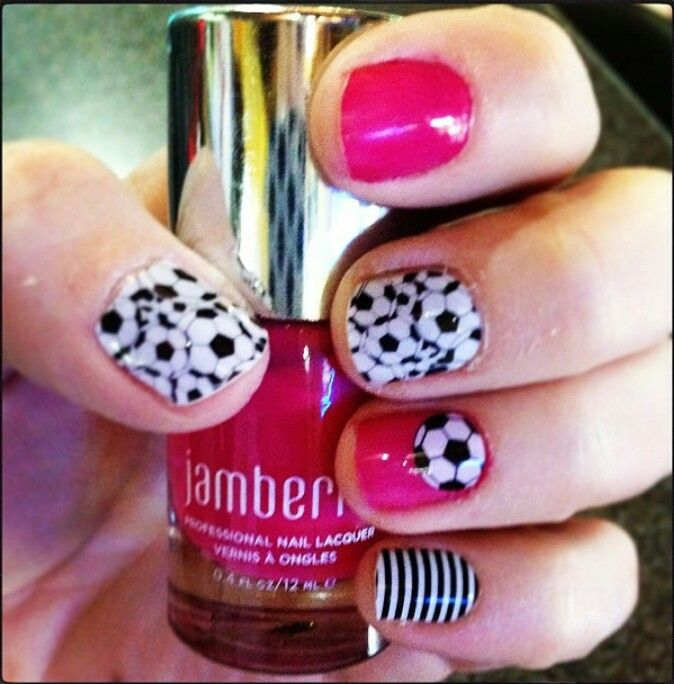 Soccer/Black & White Skinny/Corner Kick over Kiss Lacquer ...