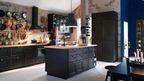 Cuisine Bistrot Mur En Briques Cuisine Metod Ikea Amenagement