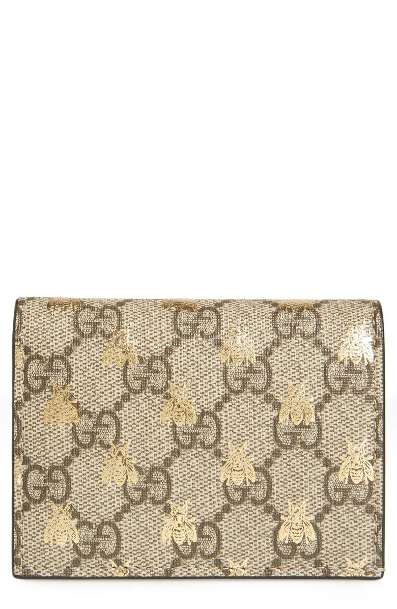5278d5e73e66 Free shipping and returns on Gucci GG Supreme Bee Canvas Bifold Wallet at  Nordstrom.com