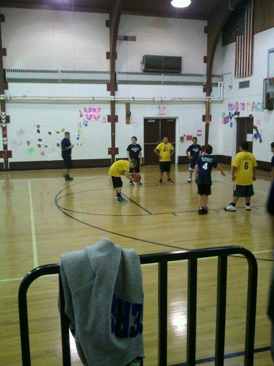 My sons basketball team