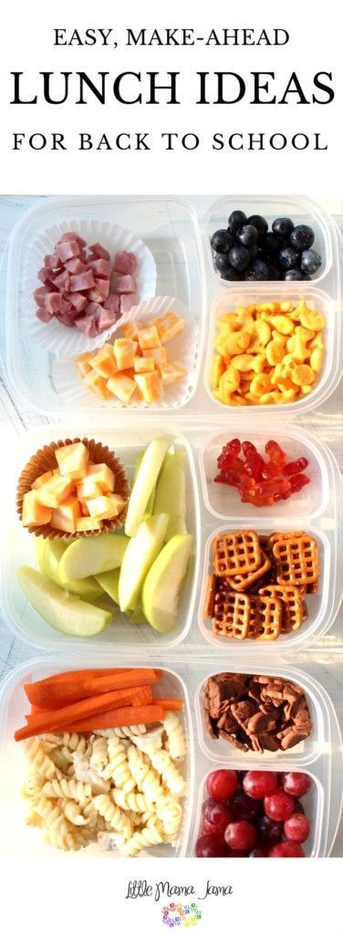 Easy, Make-Ahead School Lunches - Little Mama Jama