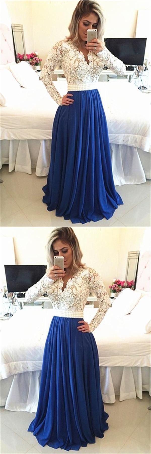 Discount distinct prom dresses blue modest prom dresses cheap prom