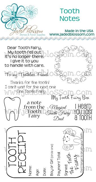 Jaded Blossom Release day 4 - Tooth Fairy!! Mommy friends - release notes template