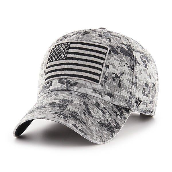 7d14c9a2a Operation Hat Trick Gray Digital Camo 47 Brand Adjustable USA Flag ...