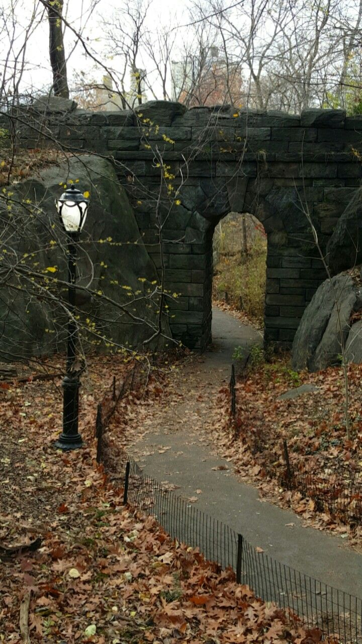 The Ramble Stone Arch. Central Park. NYC. Desember 2016.
