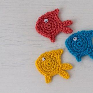 Three Little Fish Crochet Appliques A Free Pattern Crochet