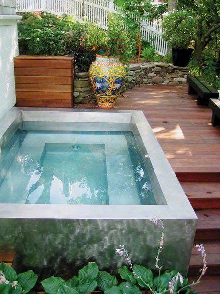 Jardines peque os 70 fotos e ideas patios pinterest for Pileta jardin pequeno