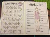 Bullet-Journal-Ideen: Leichter Gewichts- und Fitness-Tracker  #bullet #fitness #... -   - #21DayFix...