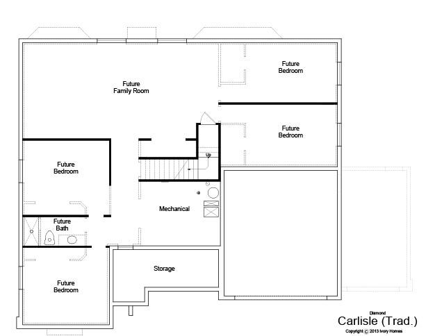 New 2013 Ivory Homes floor plan! Carlisle - Basement Level