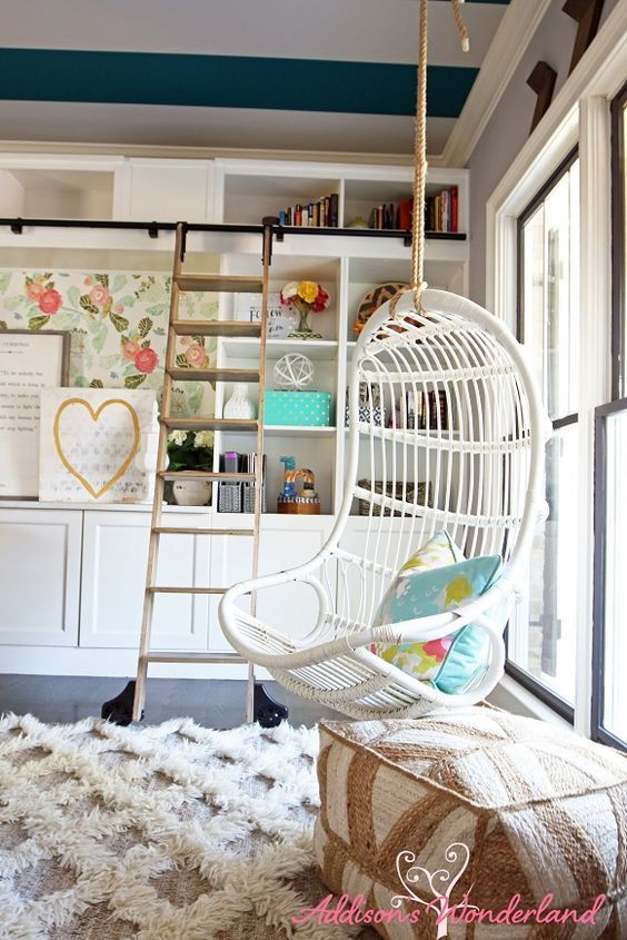 Ikea Home Office Library Ideas: This Hanging Reading Nook Is Ideal For Small Spaces And