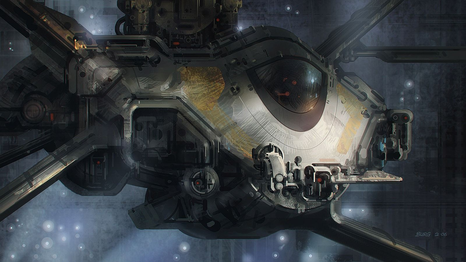 On Standby Picture  (2d, sci-fi, spaceship, concept art, speed painting)