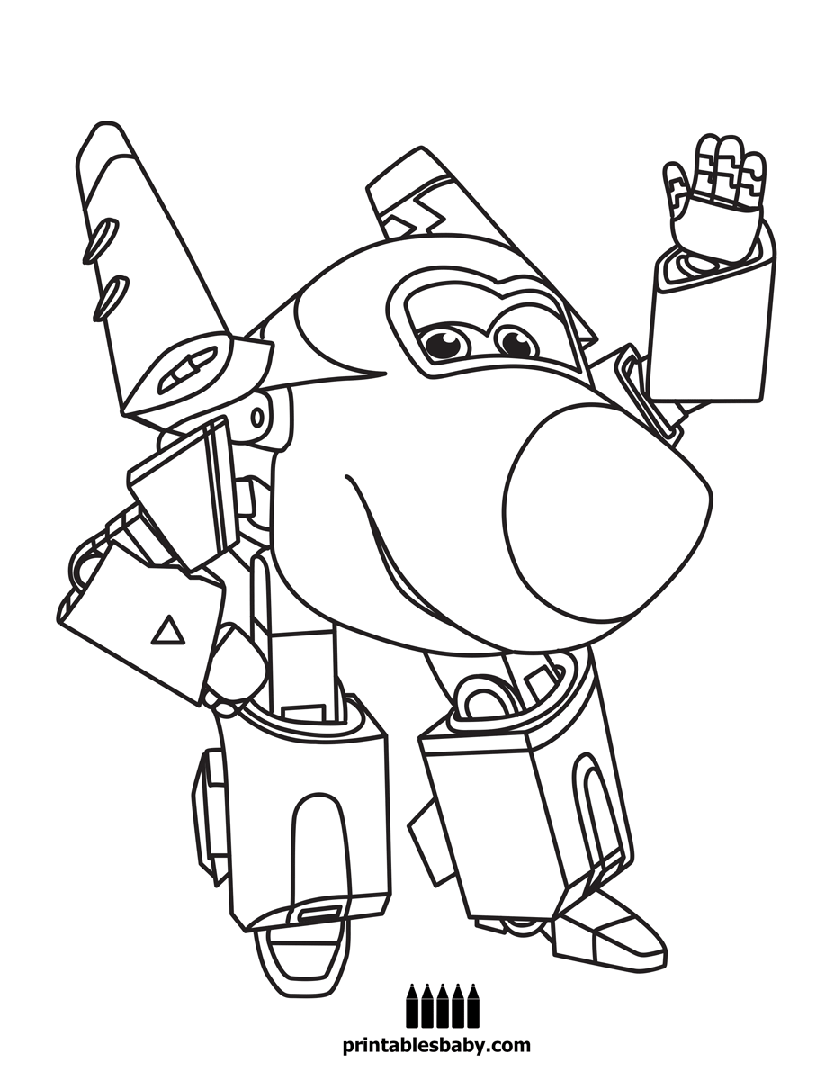 Super Wings Enzo Ideas Transformers Coloring Pages Cartoon