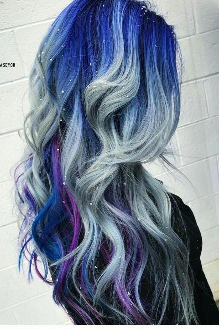 Hair Dye Dark Red Hair Dye Unnatural Colors Hairlove Hairtutorial Hairdye Hair Styles Long Hair Styles Blue Ombre Hair