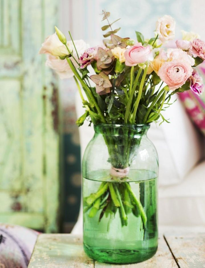Imagens da semana: flores + potes de vidro