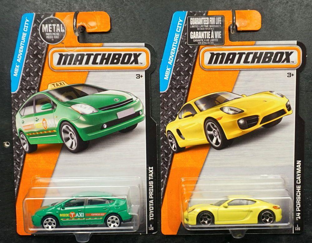 Matchbox 2015 Lot Of 2 14 Yellow Porsche Cayman Green Toyota