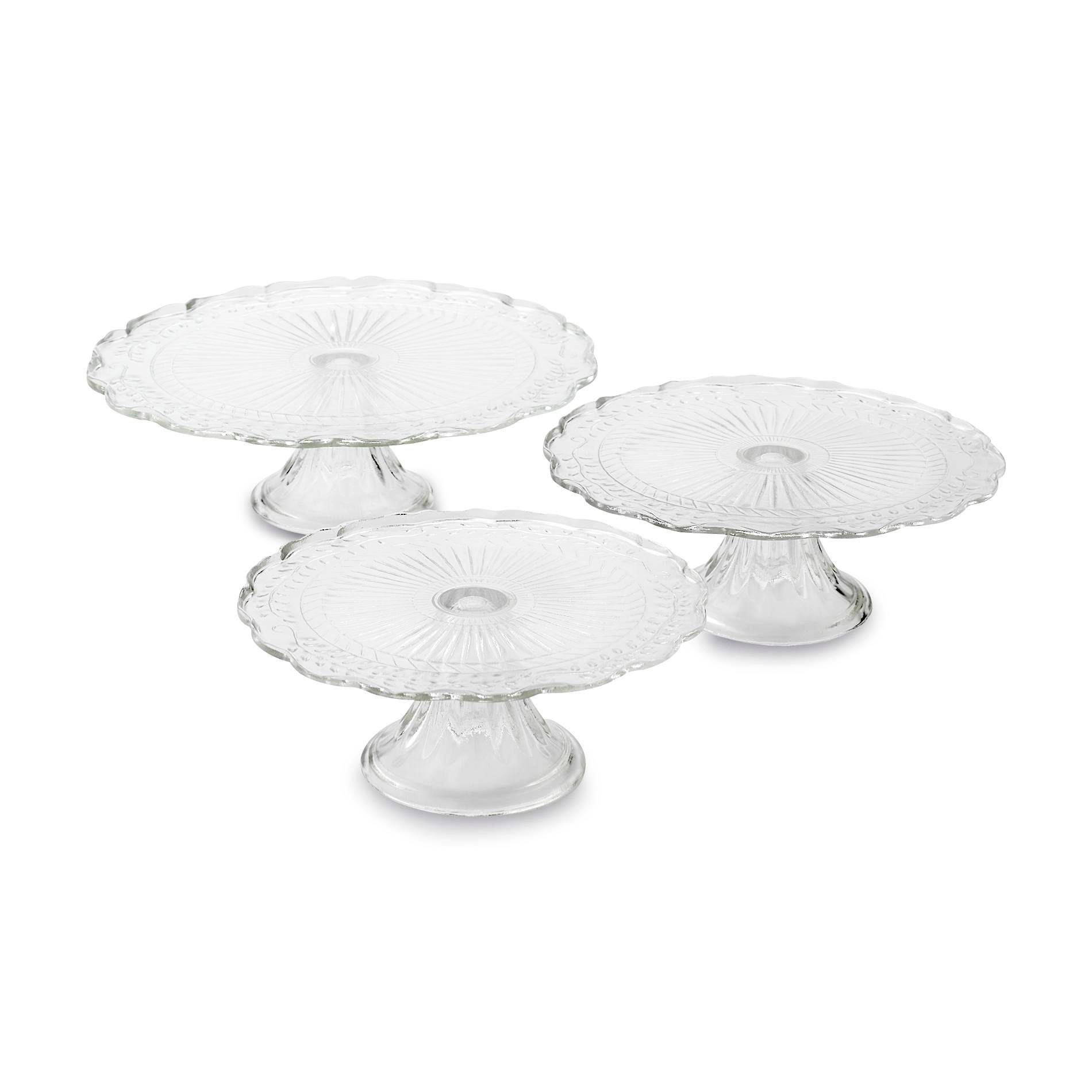 3 Tier Glass Server Set Clear In 2020 Disposable Cupcake Stand Tiered Cake Stands Cardboard Cupcake Stand