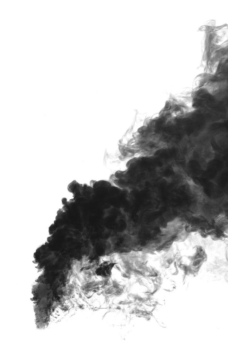 Download Premium Illustration Of Black Smoke Effect Design Element On A Black Smoke Smoke Vector Design Element